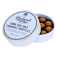 Buy Charbonnel et Walker Sea Salt Dark Caramel Truffles, 120g Online at johnlewis.com