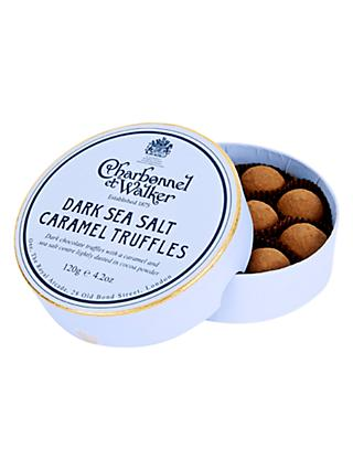 Charbonnel et Walker Sea Salt Dark Caramel Truffles, 120g