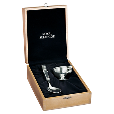 Royal Selangor Pewter Egg Cup and Spoon