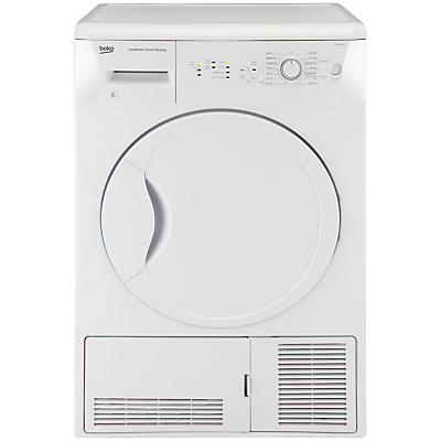 Beko DCU8230W Condenser Tumble Dryer, 8kg Load, B Energy Rating, White