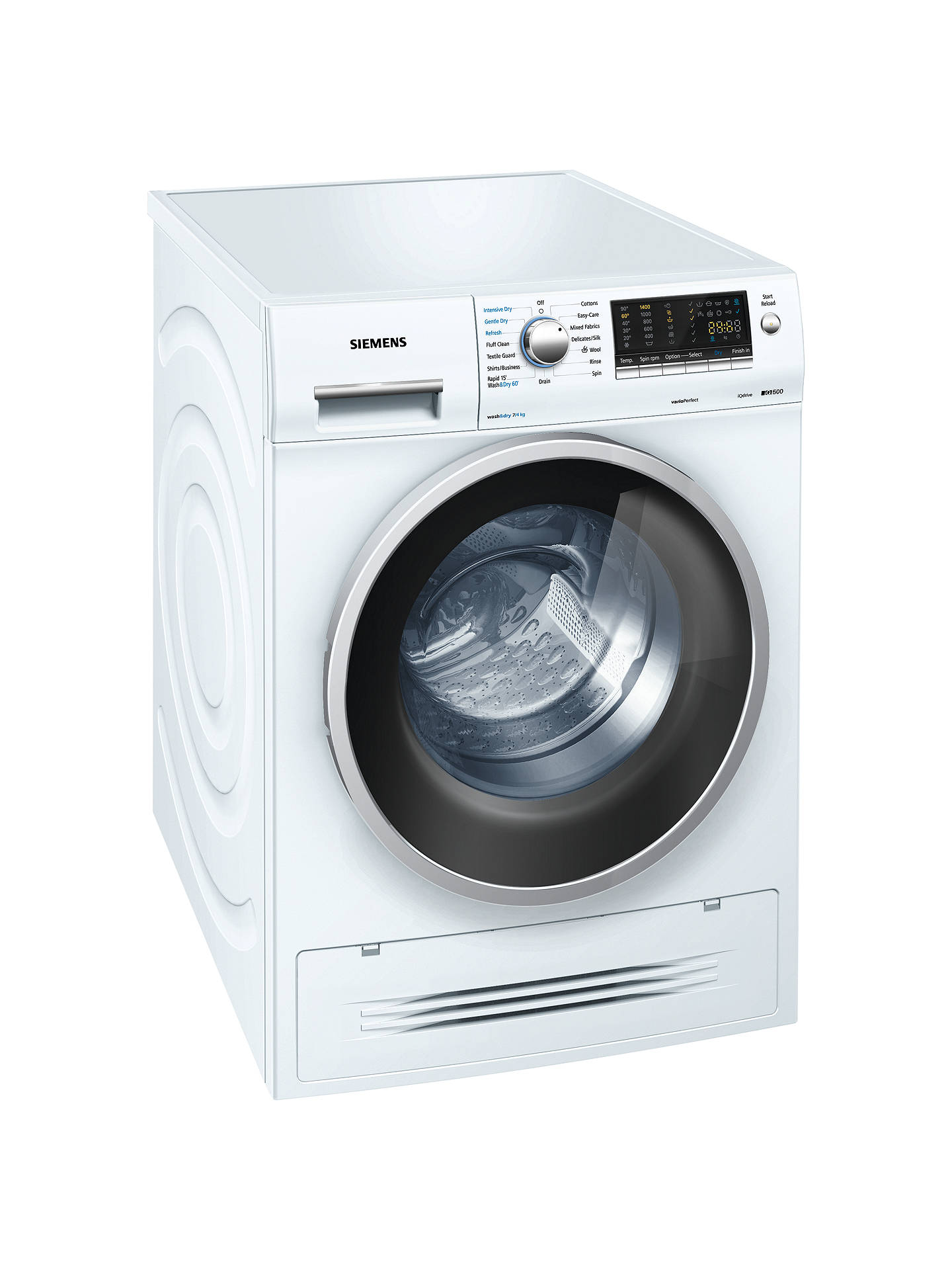 siemens wd14h421gb washer dryer 7kg wash 4kg dry load a energy rating 1400rpm spin white at. Black Bedroom Furniture Sets. Home Design Ideas