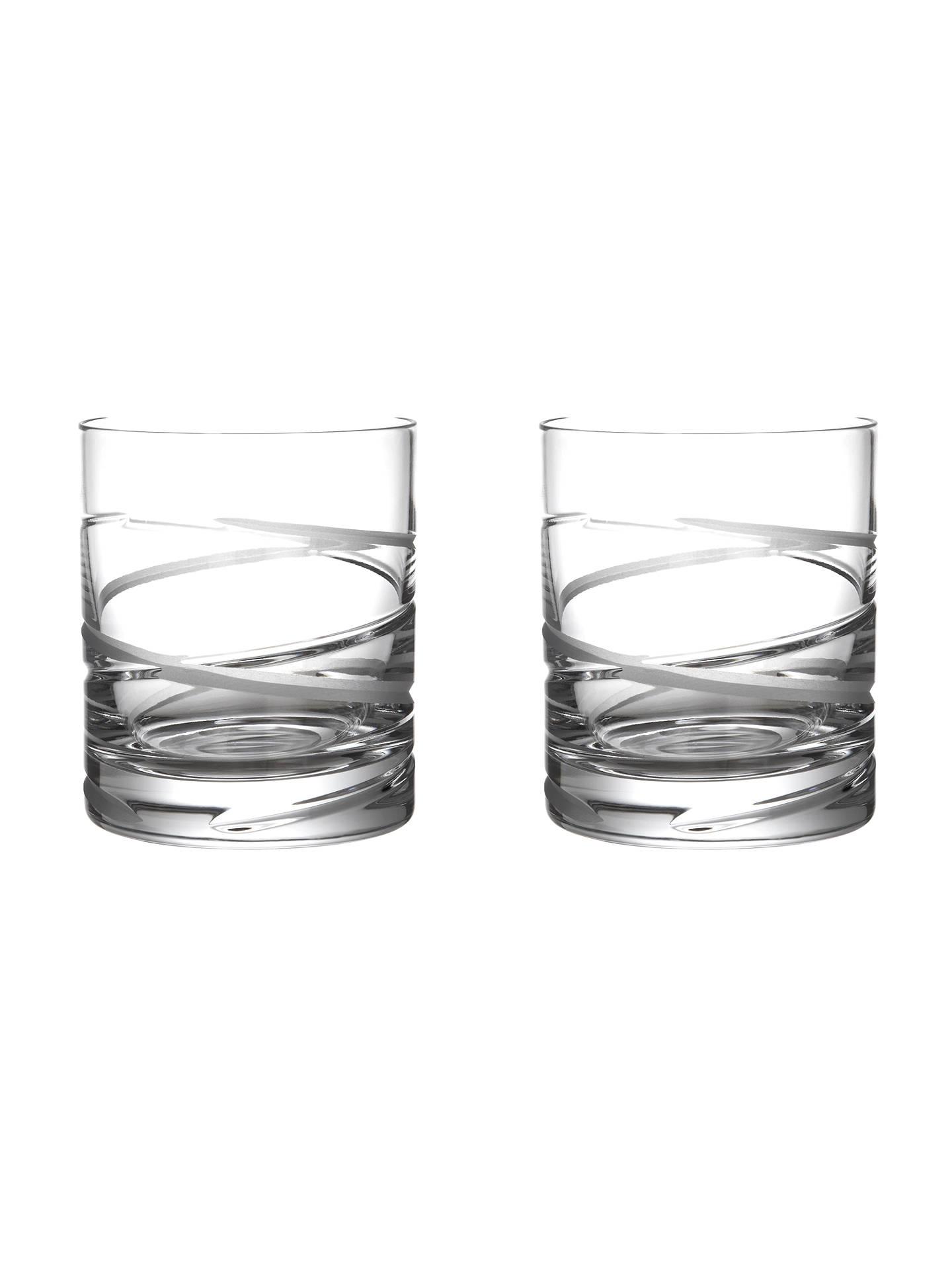 John Lewis Aurora Cut Lead Crystal Wine Glasses, Set of 2