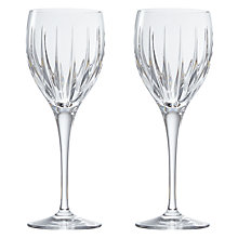 Buy John Lewis Glacier Cut Crystal Wine Glasses, Set of 2 Online at johnlewis.com