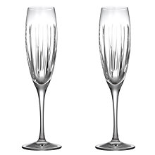 Buy John Lewis Glacier Cut Crystal Flutes, Set of 2 Online at johnlewis.com