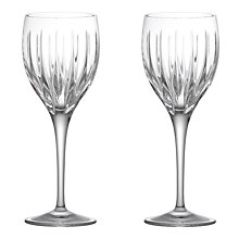 Buy John Lewis Glacier Cut Lead Crystal Goblets, Set of 2 Online at johnlewis.com