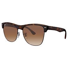 Buy Ray-Ban RB4175 Clubmaster Oversized Sunglasses, Havana Online at johnlewis.com