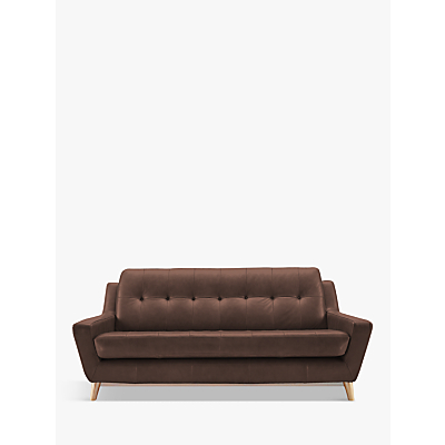 G Plan Vintage The Fifty Three Leather Large 3 Seater Sofa