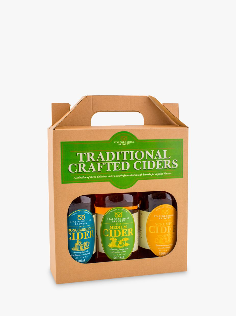Staffordshire Brewery Staffordshire Brewery Traditional Crafted Ciders Set, 3 x 500ml