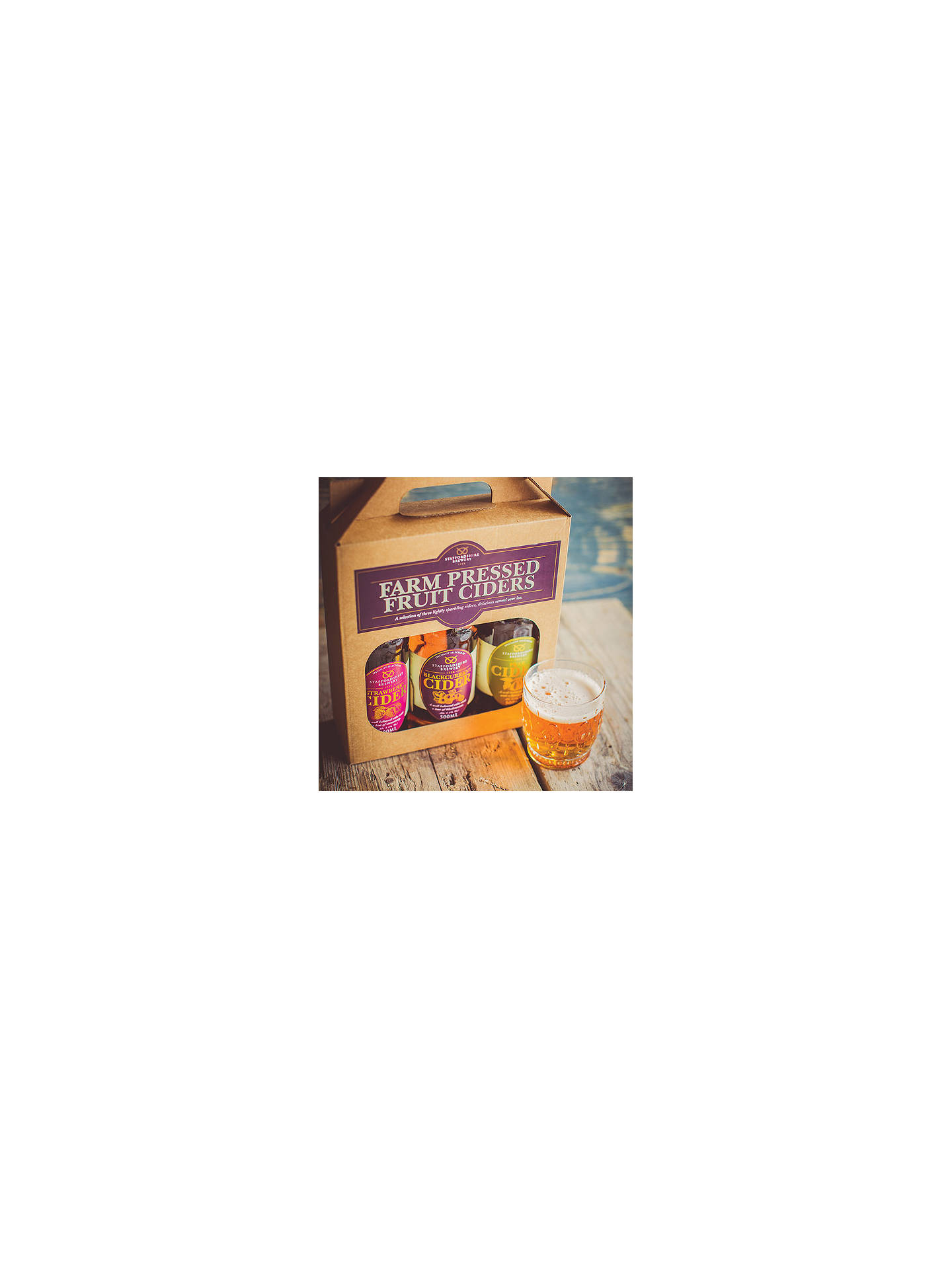 Buy Staffordshire Brewery Farm Pressed Fruit Ciders Set, 3 x 500ml Online at johnlewis.com