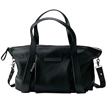 Buy Bugaboo with Storksak Leather Bag, Black Online at johnlewis.com