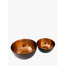 Buy Just Slate Copper Serving Bowls, Set of 2 Online at johnlewis.com
