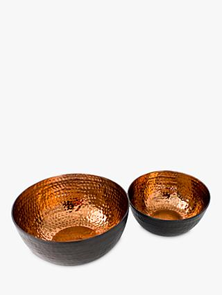 The Just Slate Company Copper Serving Bowls, Set of 2