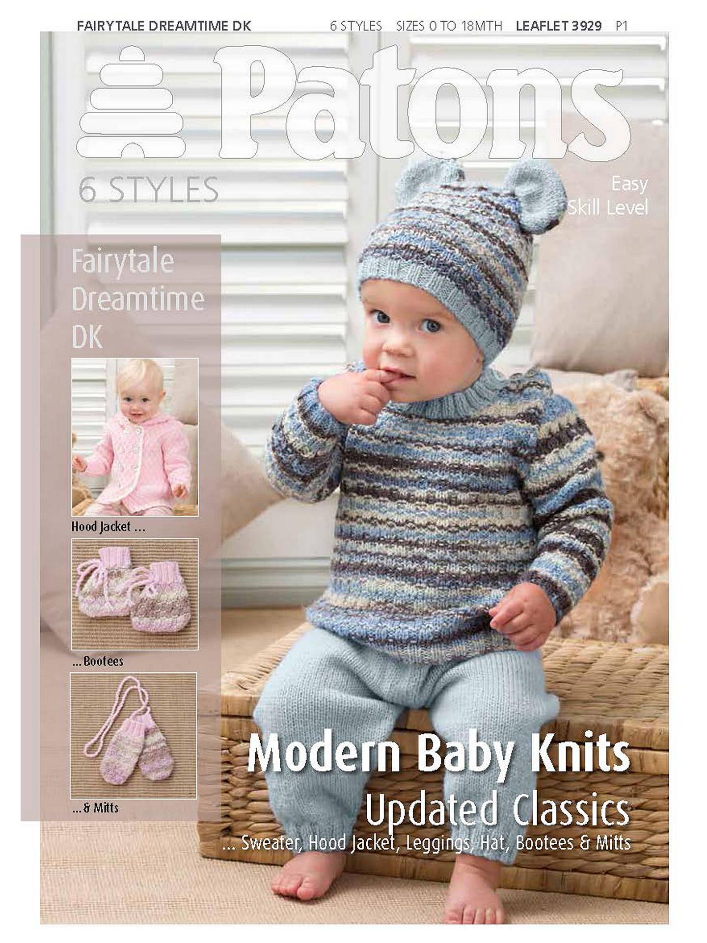 Patons Yarn Modern Baby Knitting Pattern At John Lewis Partners
