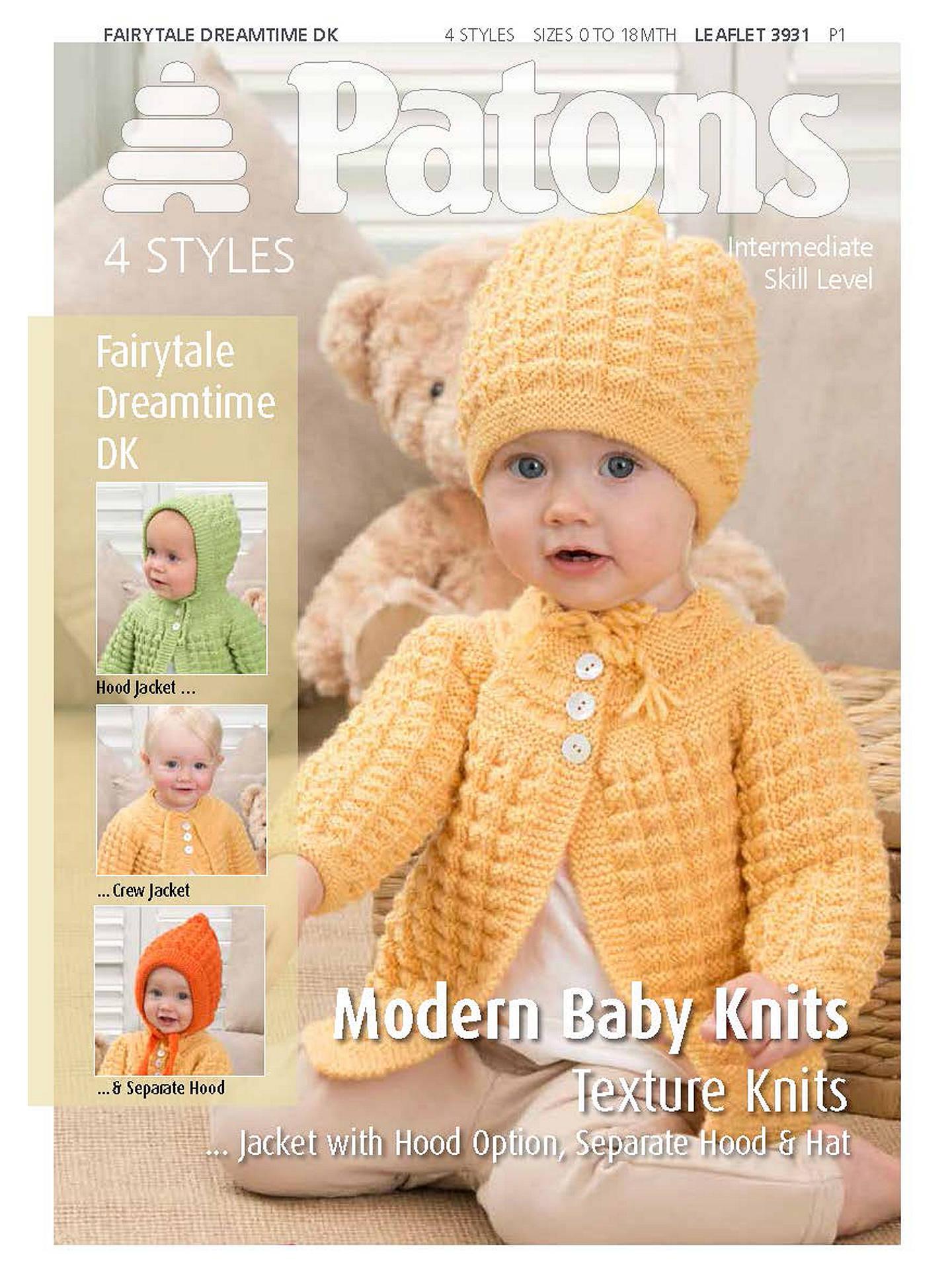 Patons Yarn Modern Baby Texture Knitting Pattern At John Lewis