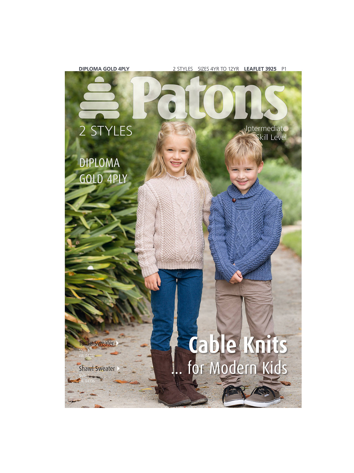 bec148d86e0e71 Buy Patons Yarn Cable Aran Knits for Modern Kids Knitting Pattern Online at  johnlewis.