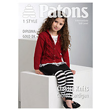 Buy Patons DK Cabled Cardigan Knitting Pattern Online at johnlewis.com