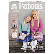 Buy Patons Yarn Girls Party Knitting Pattern Online at johnlewis.com