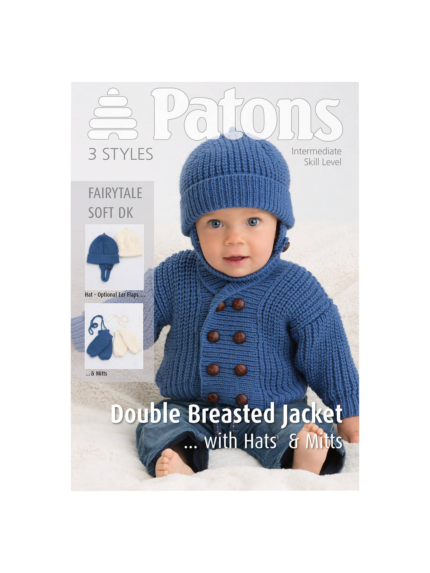 Patons Dk Double Breasted Jacket Knitting Pattern At John Lewis