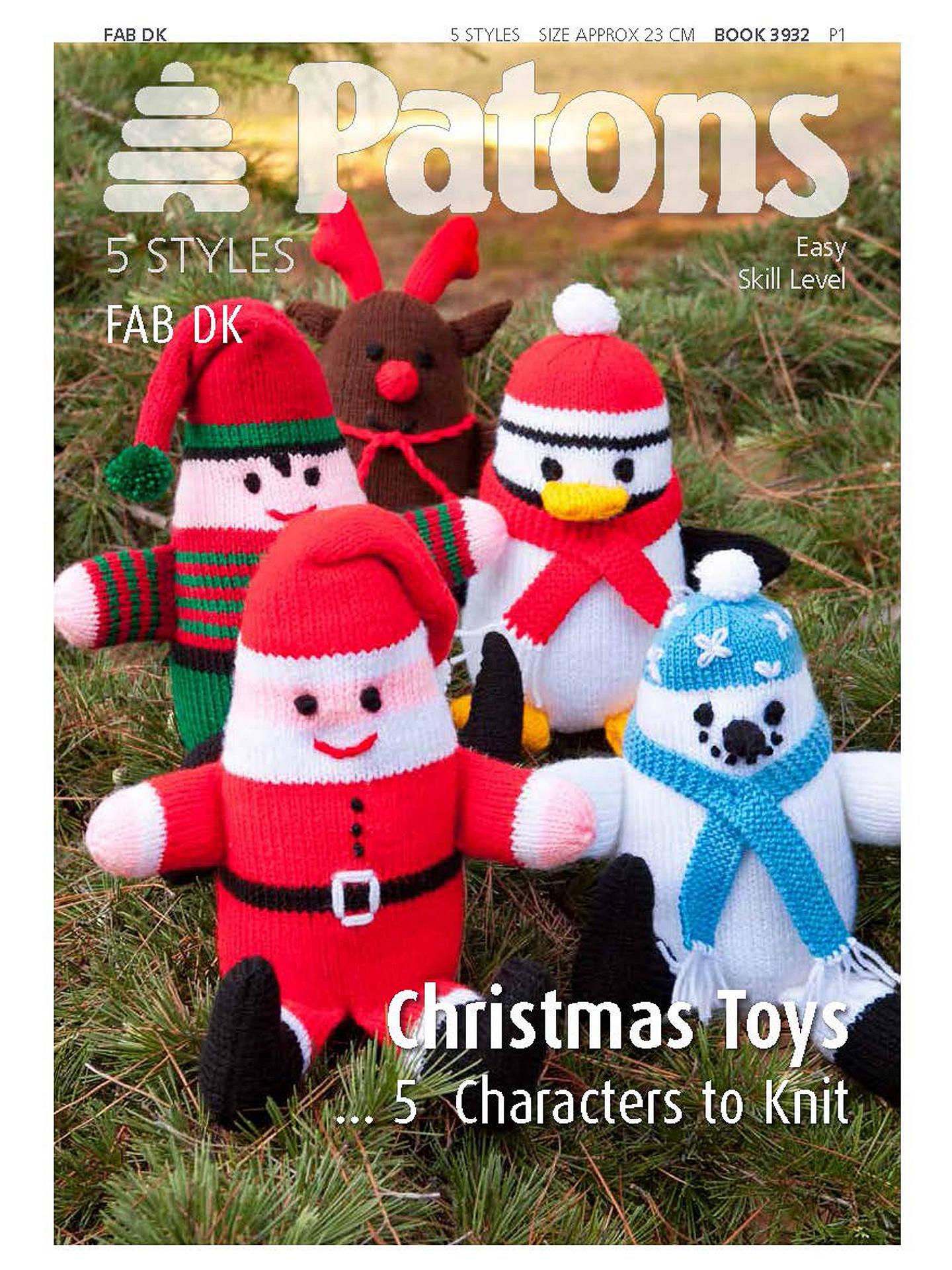 Patons Yarn Christmas Toys Knitting Pattern at John Lewis