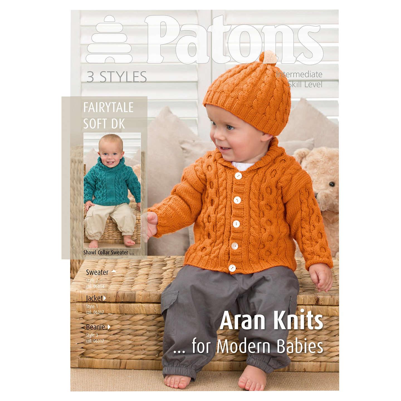Patons DK Modern Baby Aran Knitting Pattern at John Lewis