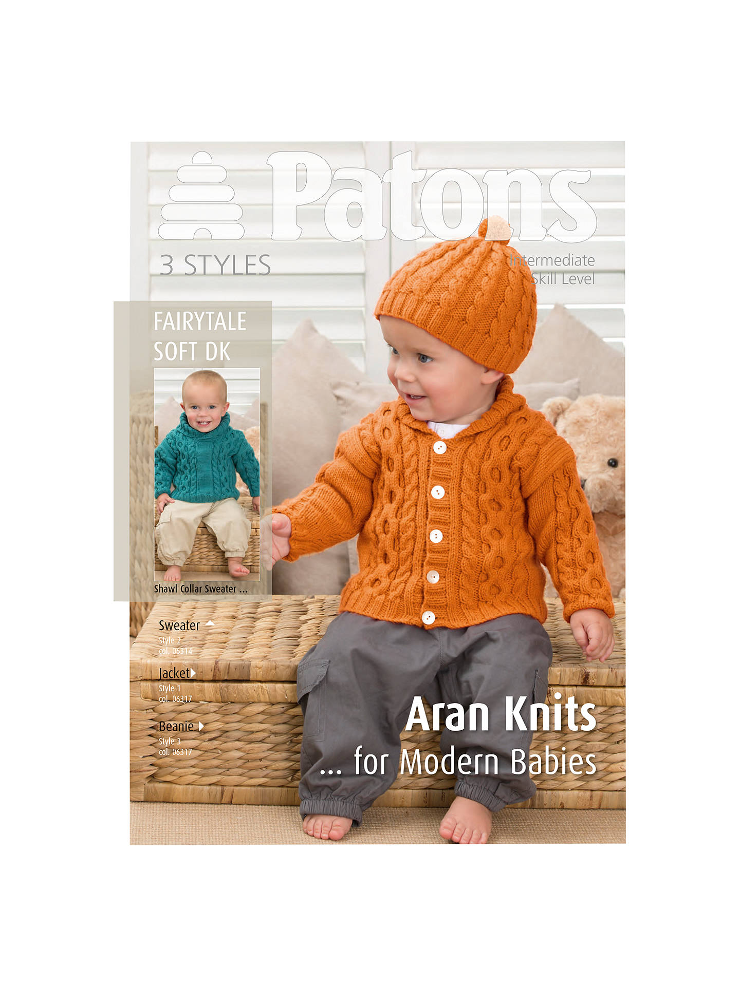 Patons Dk Modern Baby Aran Knitting Pattern At John Lewis Partners