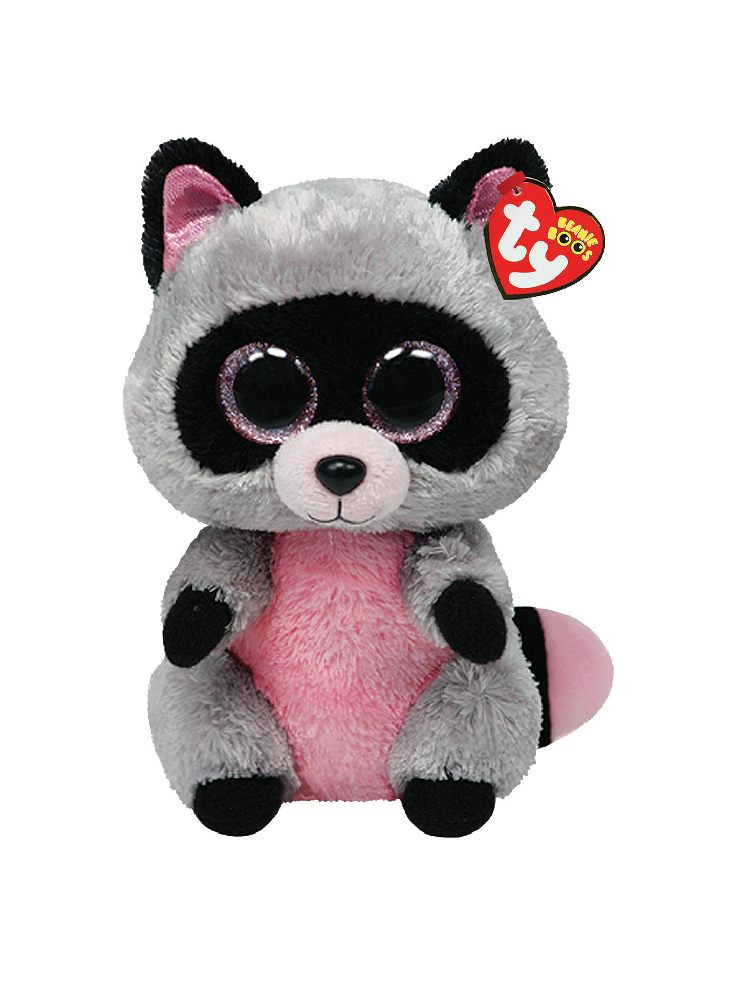 Ty Beanie Boo Rocco Raccoon Soft Toy, 24cm at John Lewis