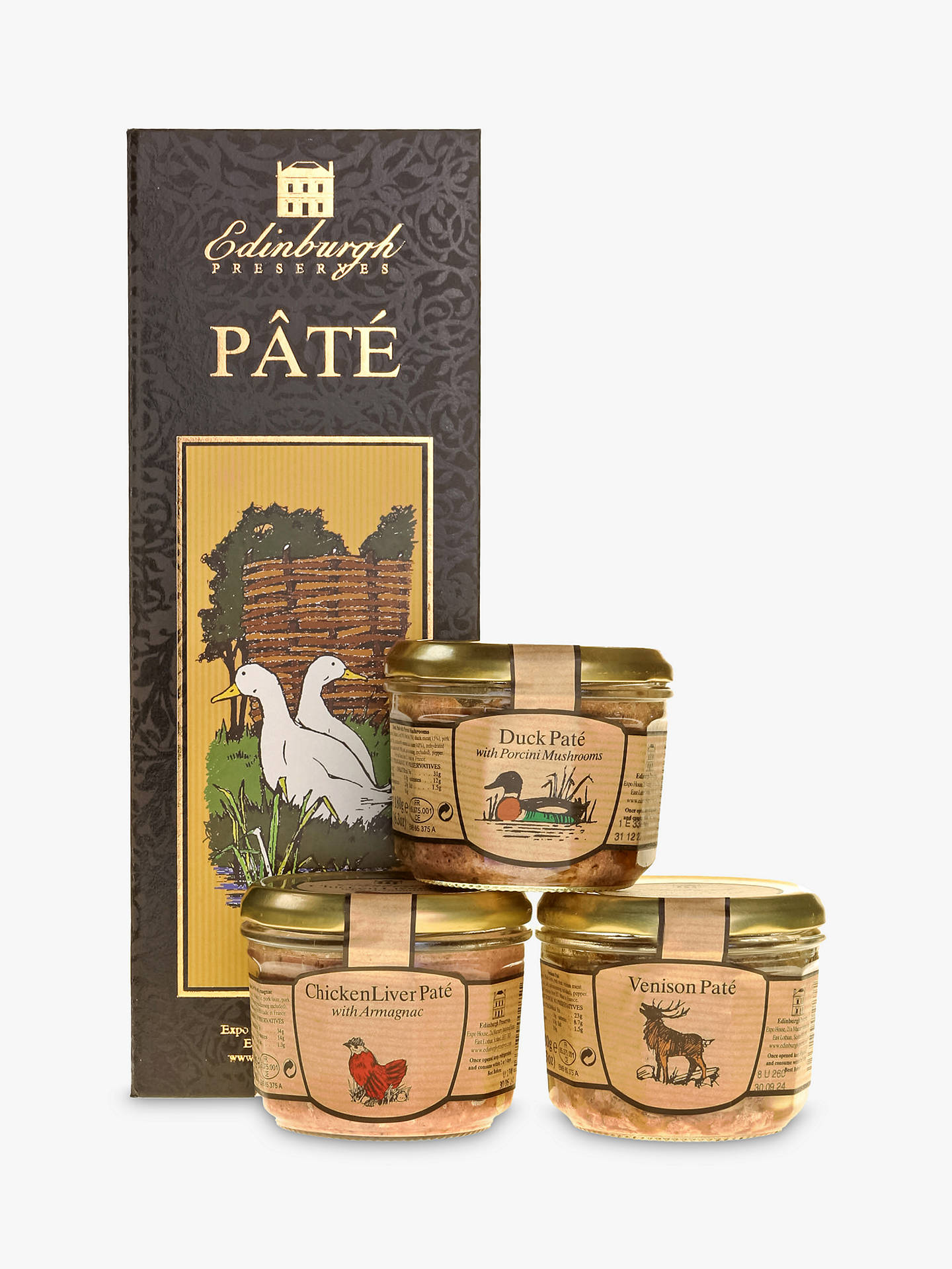 Edinburgh Preserves Trio Of Pâté 540g