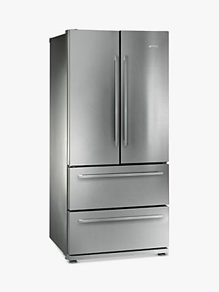 Smeg FQ55FX1 4-Door American Style Fridge Freezer, A+ Energy Rating, 84cm Wide, Stainless Steel