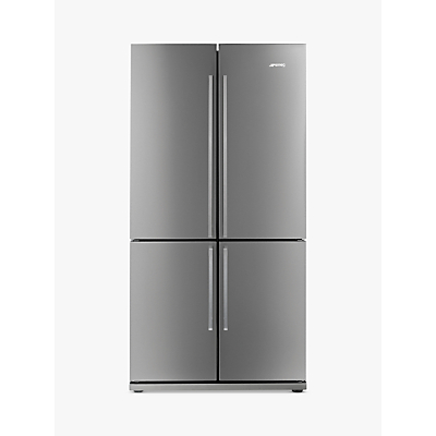 Smeg FQ60XP 4-Door American Style Fridge Freezer, A+ Energy Rating, 92cm Wide, Stainless Steel