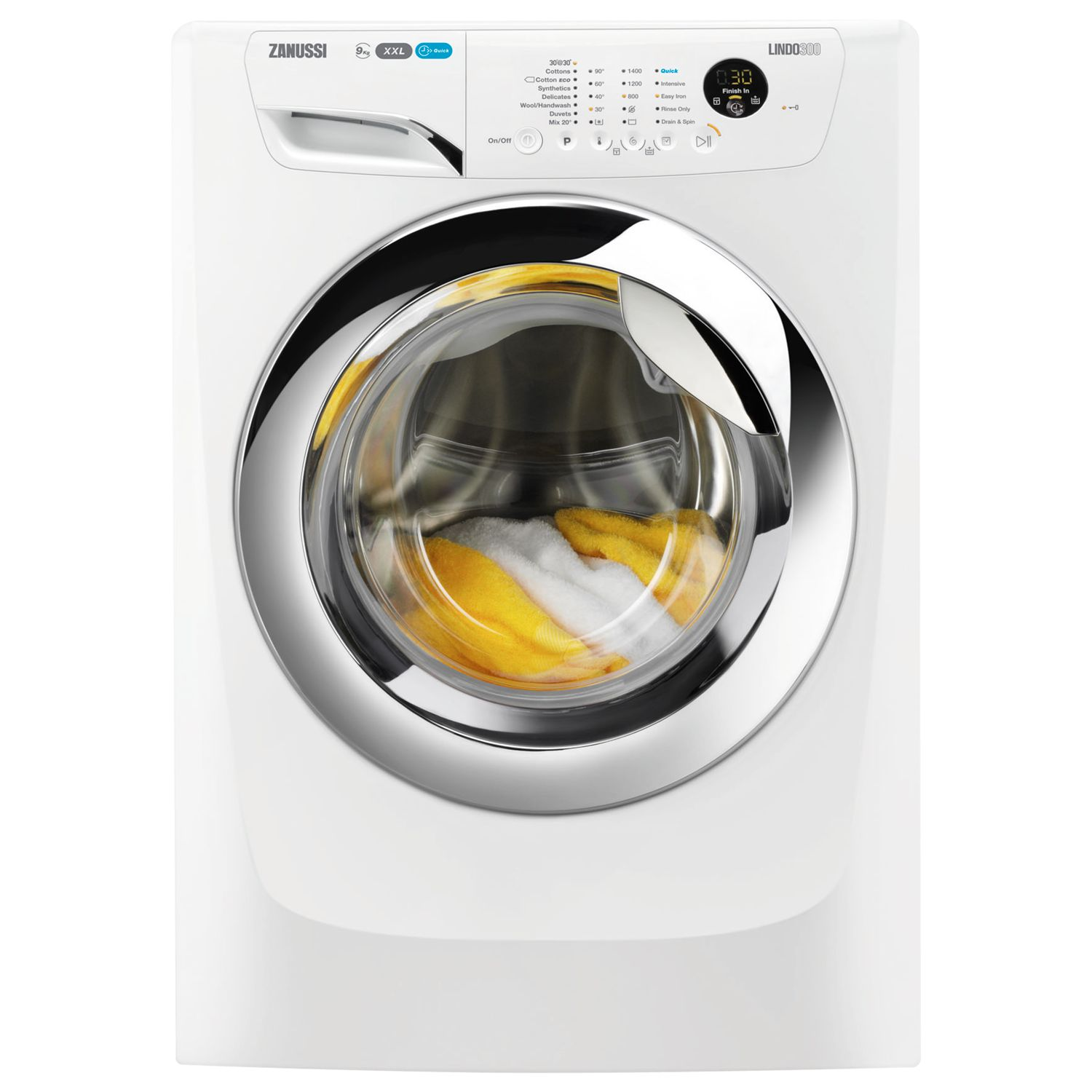 Zanussi Zanussi ZWF91483WH Washing Machine, 9kg Load, A+++ Energy Rating, 1400rpm Spin, White