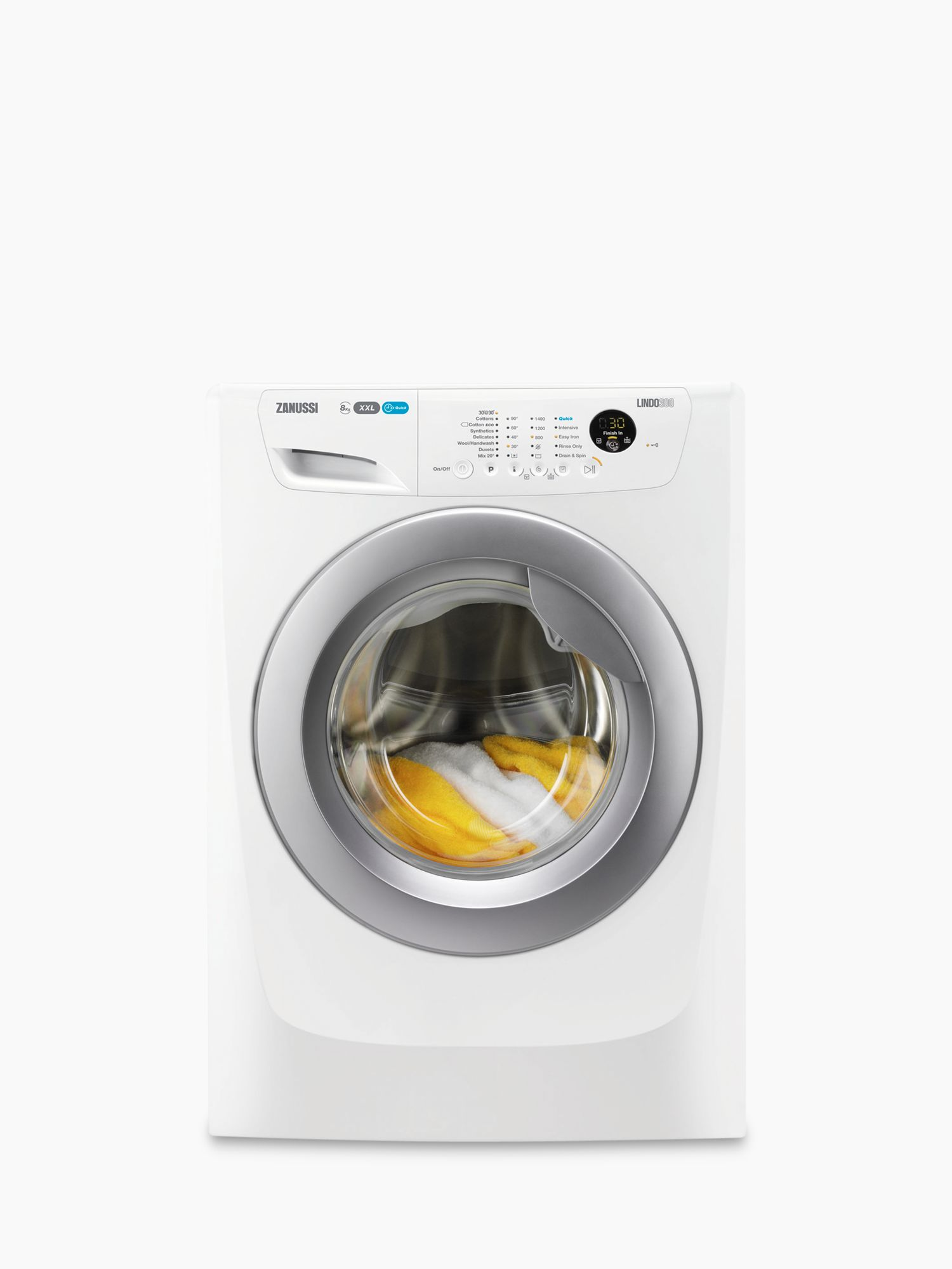Zanussi Zanussi ZWF81463WR Freestanding Washing Machine, 8kg Load, A+++ Energy Rating, 1400rpm Spin, White