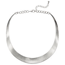 Buy John Lewis Brushed Torque Collar Necklace, Silver Online at johnlewis.com