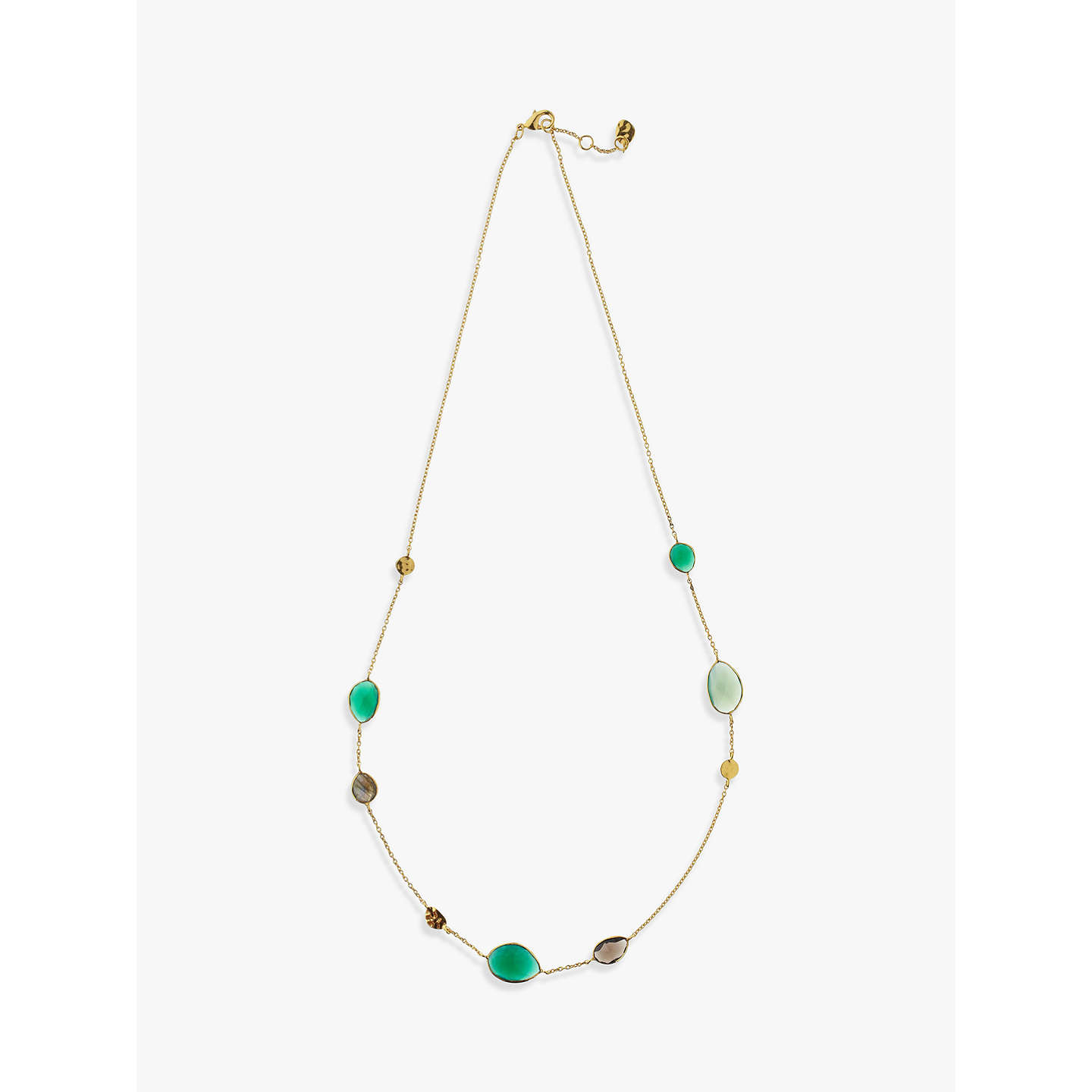 rosa angelo collections plated jewelry di the original onyx spirito gold silver green argentum necklace draped