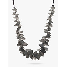 Buy One Button Segments Clusters Cord Necklace, Grey Online at johnlewis.com