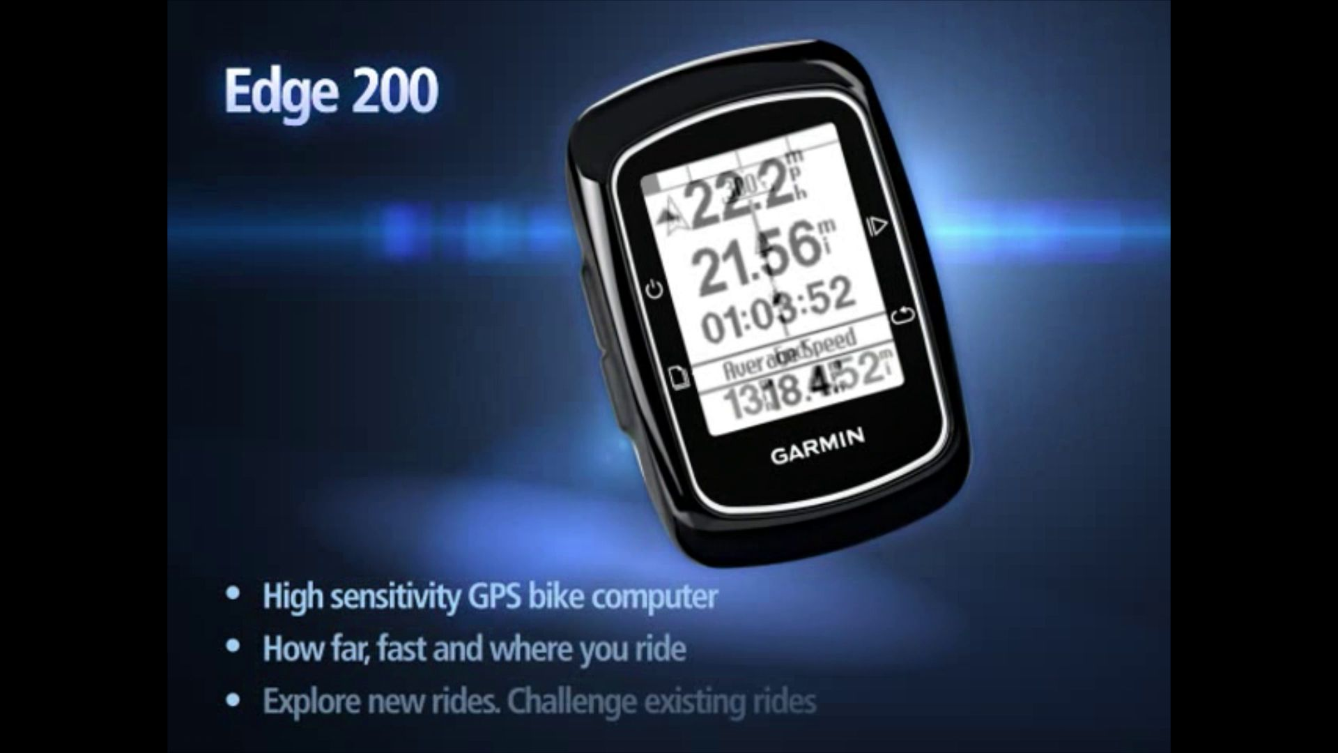 Garmin Edge 200 GPS Bike Computer, Black at John Lewis