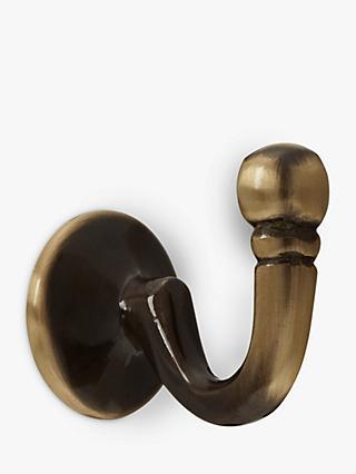 John Lewis Antiqued Brass Curtain Holdback Hold Back Ball Design single