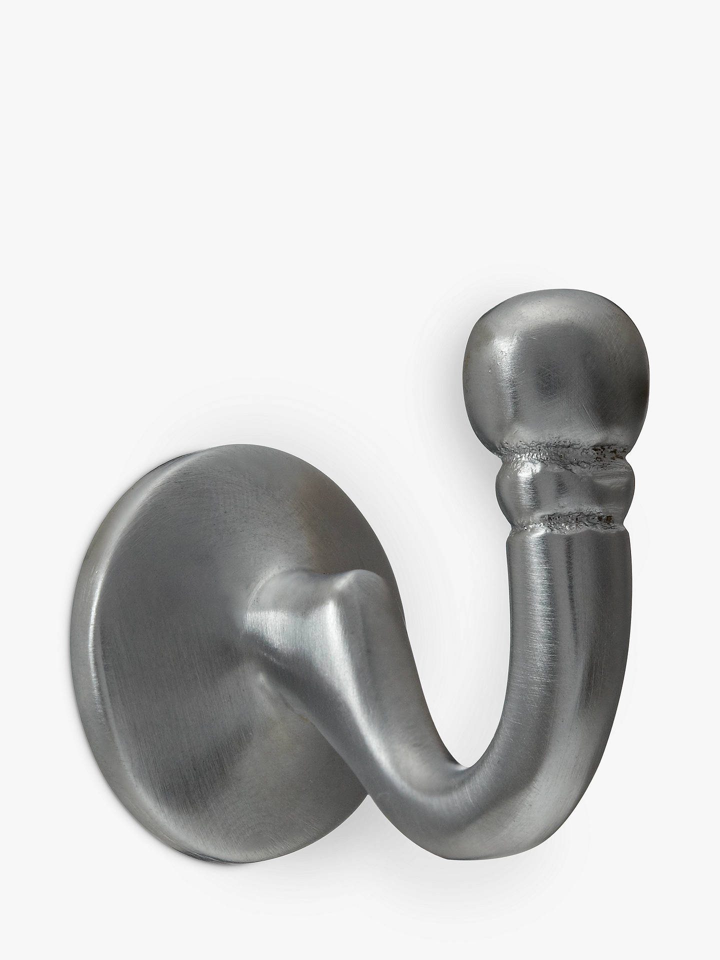 BuyJohn Lewis & Partners Regency Tieback Hooks, Pair, Satin Chrome Online at johnlewis.com