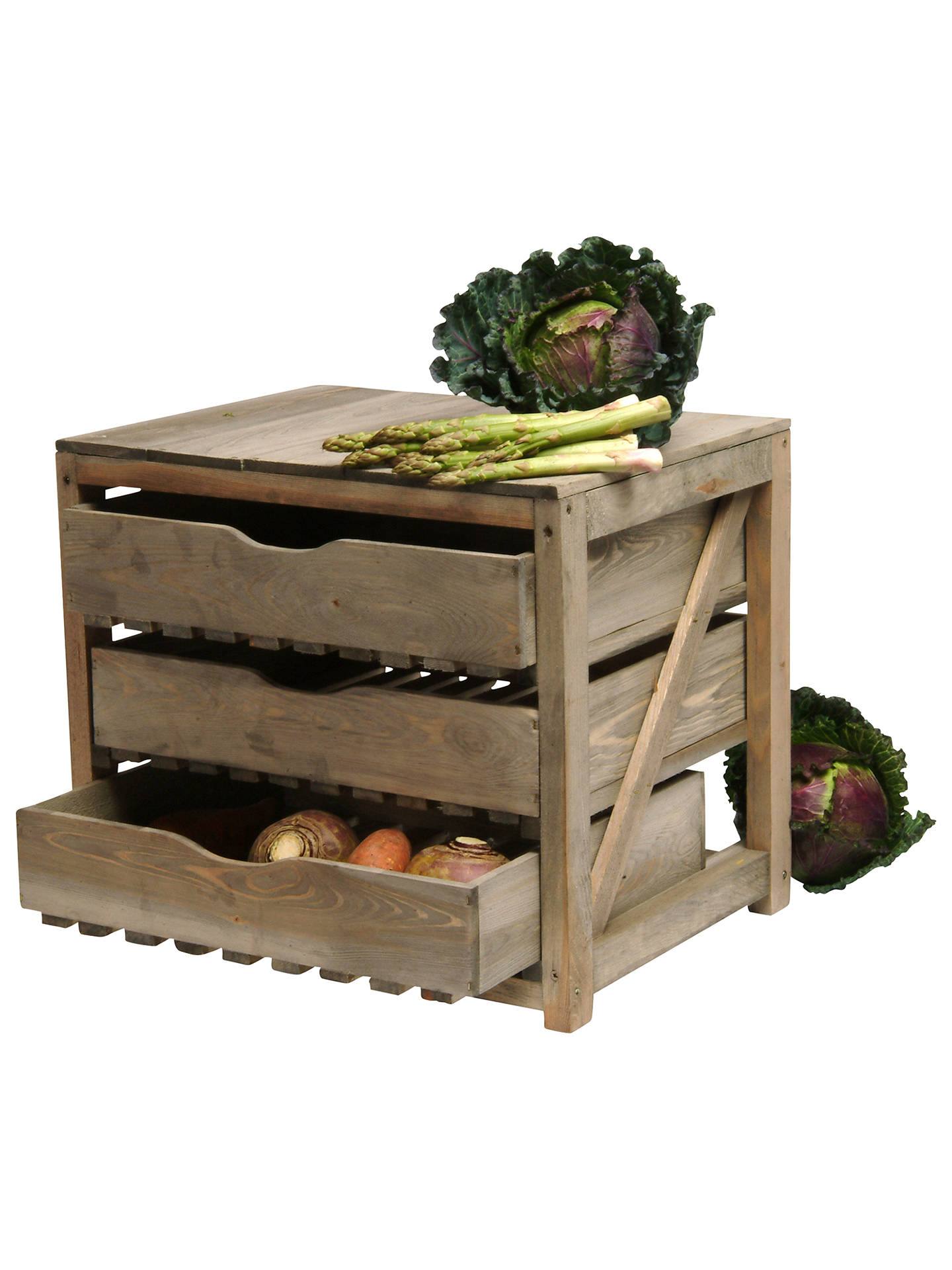 Leisure Traders Wooden Fruit and Vegetable Storage Rack