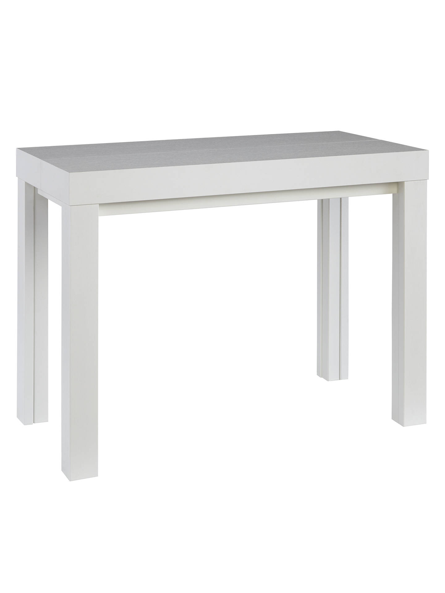 John Lewis Cosmo 12 Seater Extending Console And Dining Table White Online At
