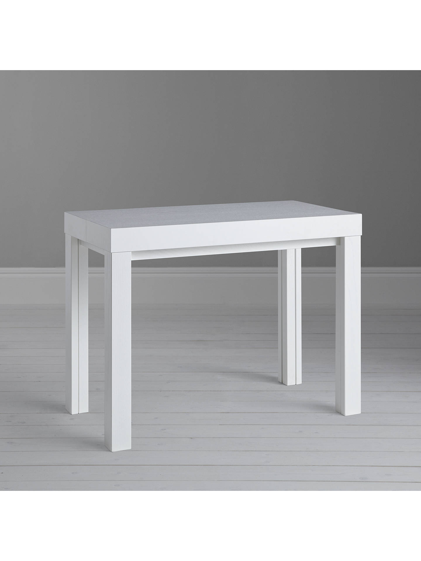 ... BuyJohn Lewis Cosmo 12 Seater Extending Console And Dining Table, White  Online At Johnlewis ...