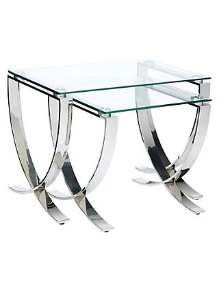 Glass nest of tables john lewis partners john lewis partners vienna nest of 2 tables watchthetrailerfo