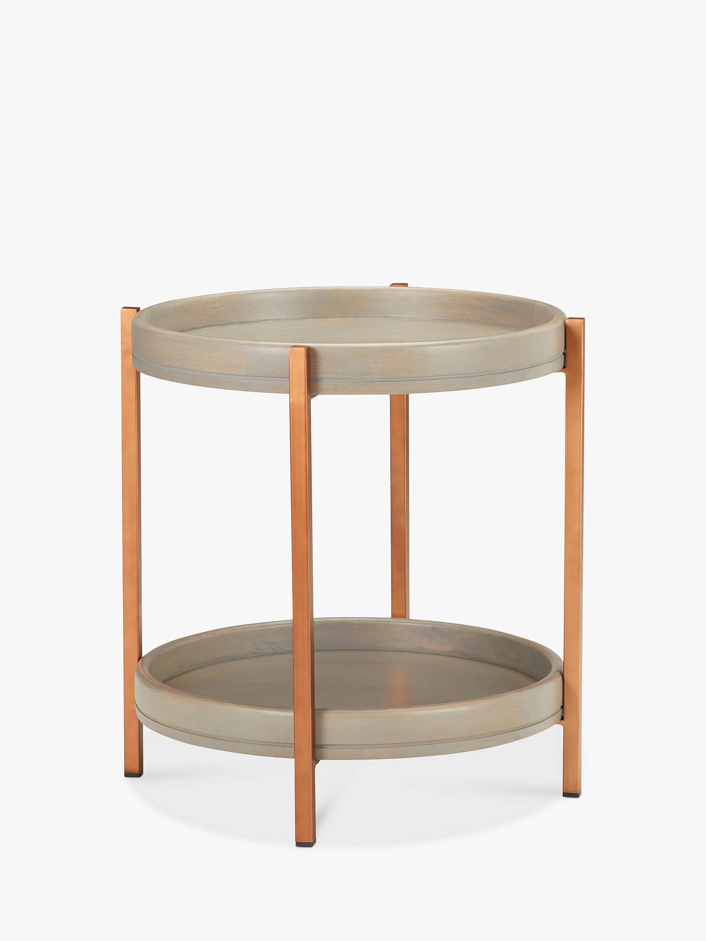 john lewis partners asha iron tray side table at john. Black Bedroom Furniture Sets. Home Design Ideas