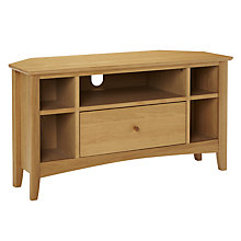 Buy John Lewis Alba Oak Corner TV Stand Online at johnlewis.com
