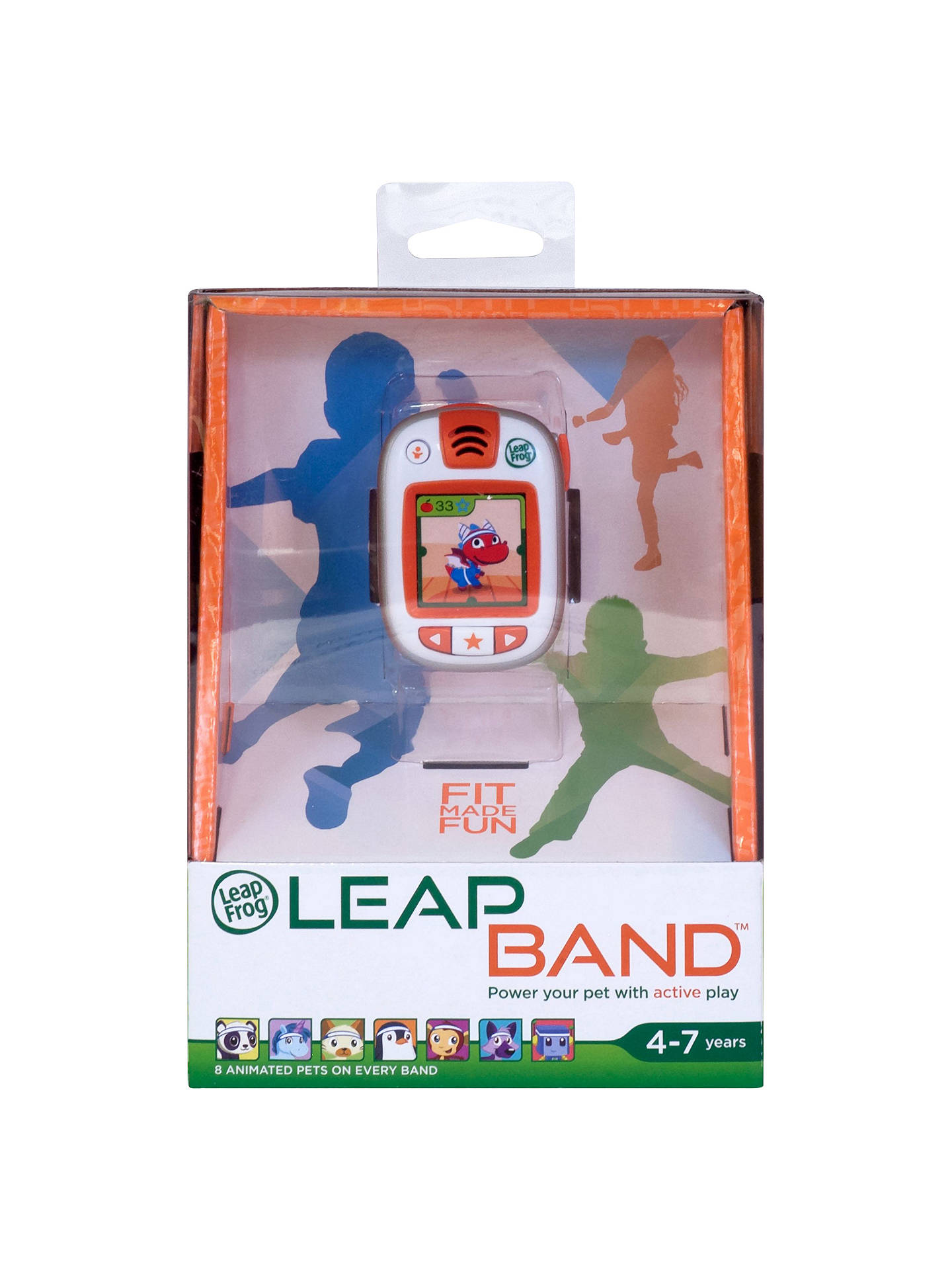 BuyLeapFrog LeapBand Active Play Watch, Orange Online at johnlewis.com