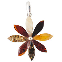 Buy Be-Jewelled Amber Daisy Pendant, Multi Online at johnlewis.com