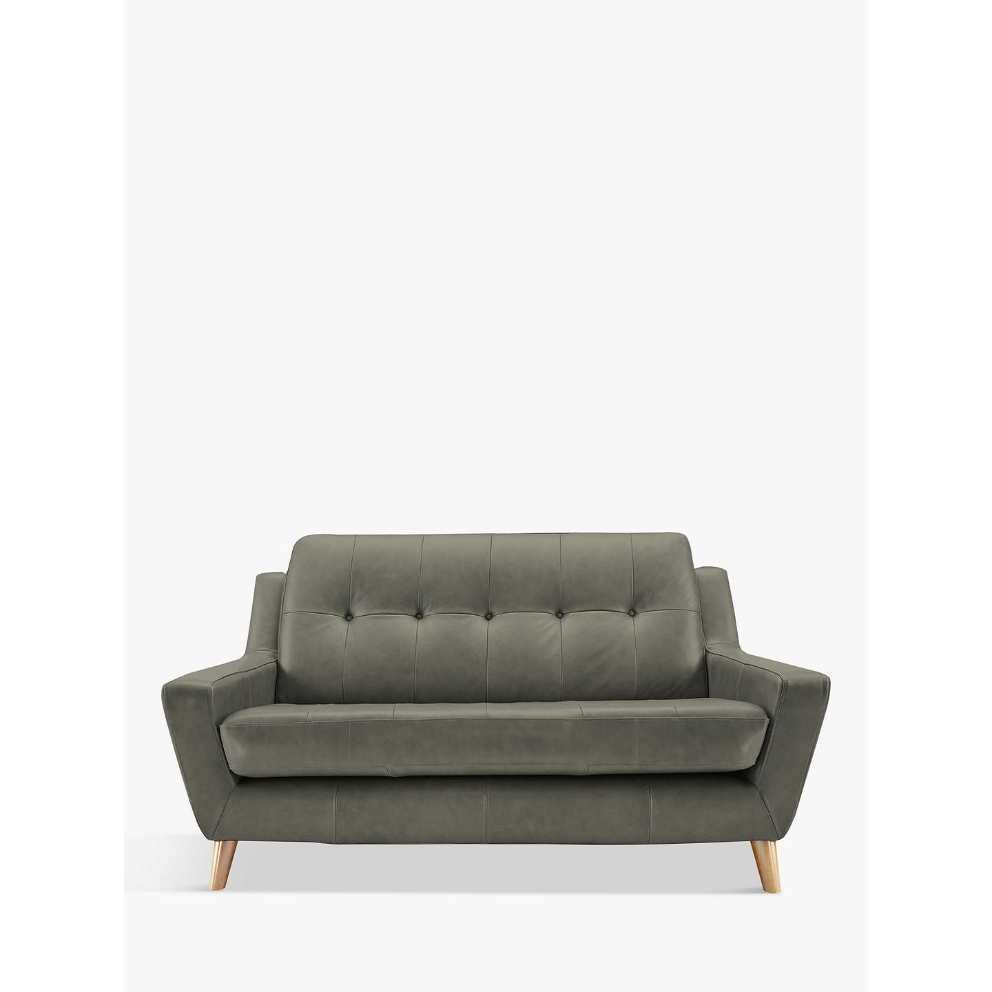 BuyG Plan Vintage The Fifty Three Small 2 Seater Leather Sofa, Capri Grey  Online At ...