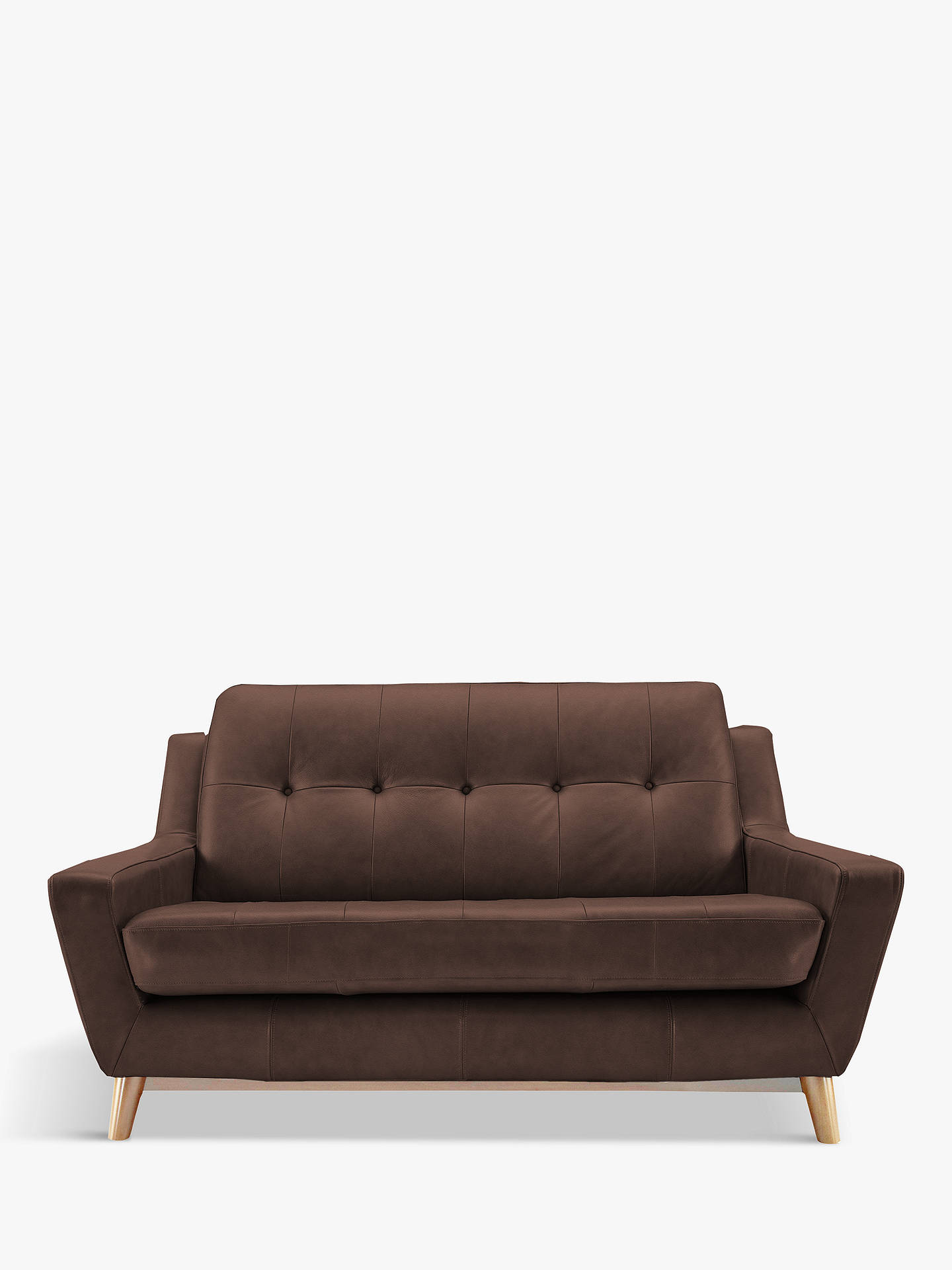 BuyG Plan Vintage The Fifty Three Small 2 Seater Leather Sofa, Capri Oak Online at johnlewis.com