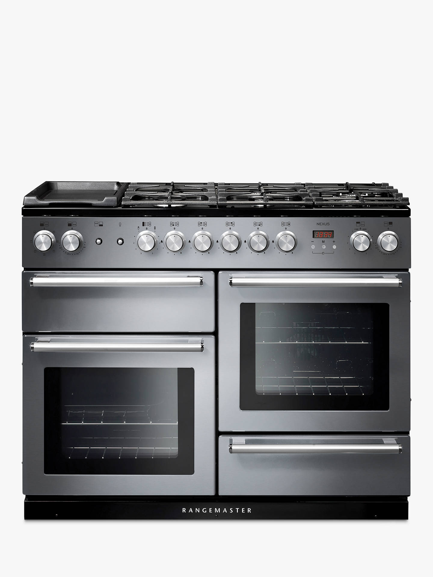BuyRangemaster Nexus 110 Dual Fuel Range Cooker, Stainless Steel/Chrome Trim Online at johnlewis.com