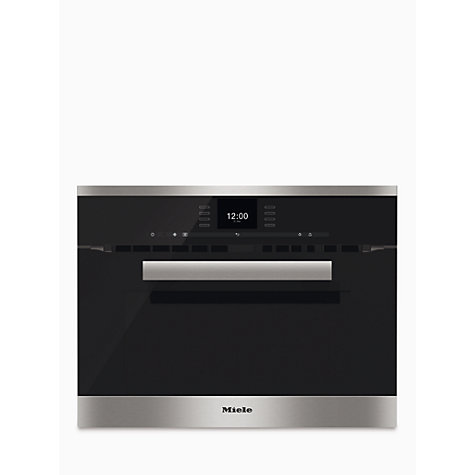Miele H6600bm Pureline Built In Combination Microwave Online At Johnlewis