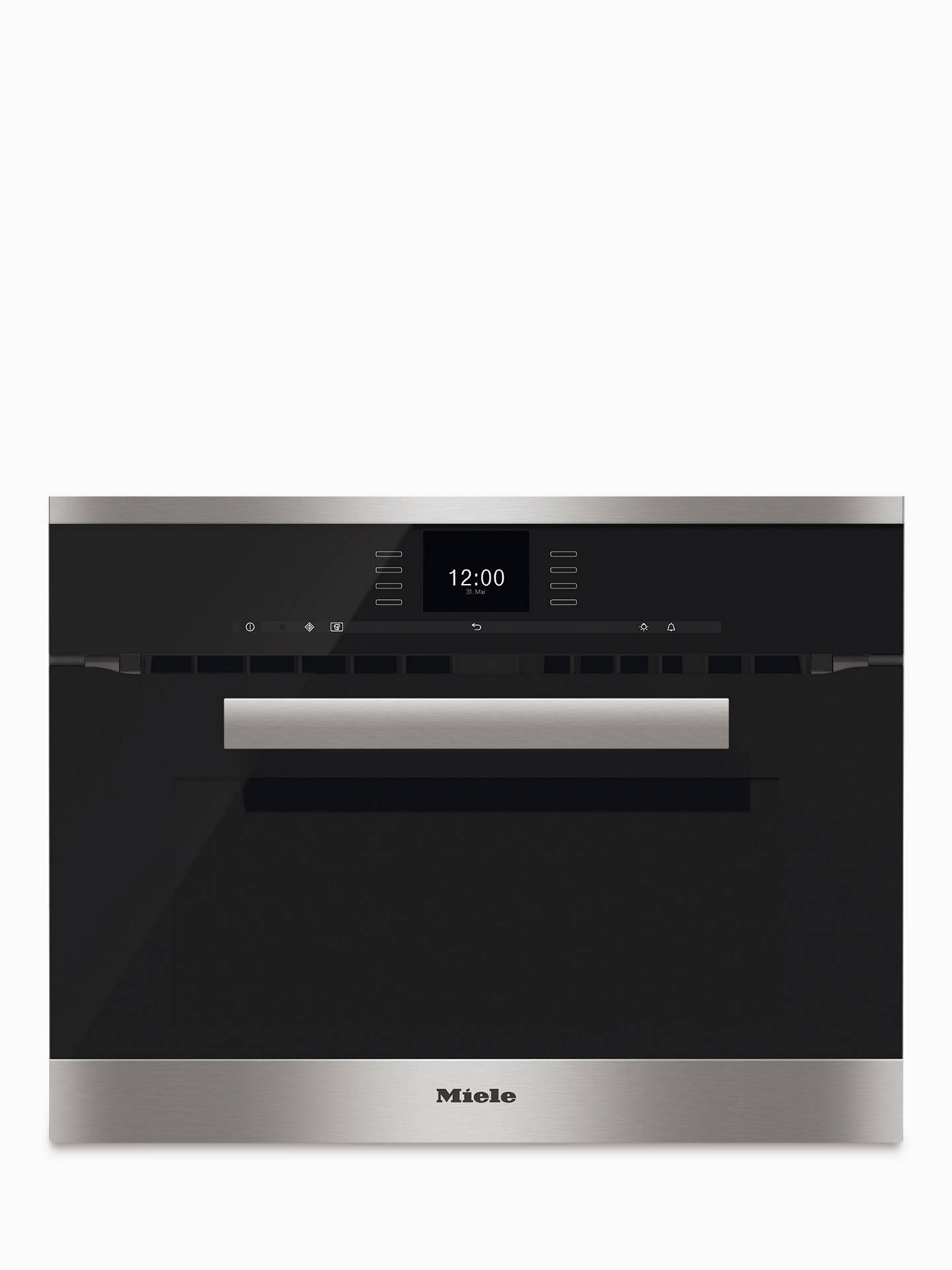 Miele H6600bm Pureline Built In Combination Microwave Oven Online At Johnlewis